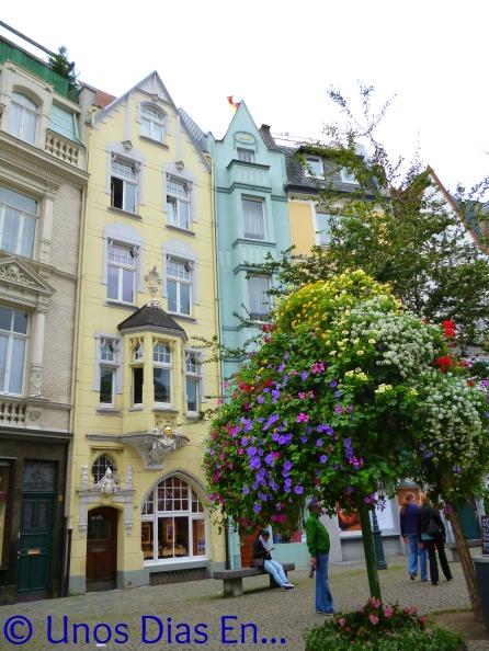 Casas en colores pastel