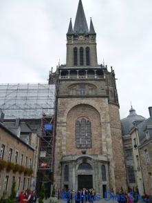 Vista desde el exterior de la catedral