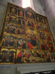 Retablo en la basílica de Manresa