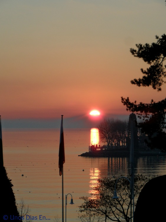 Sunset at Lac Leman