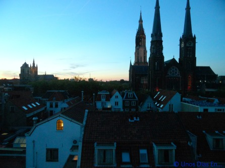 Sunset in Delft