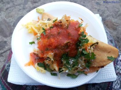 Eating a Doblada at La Merced