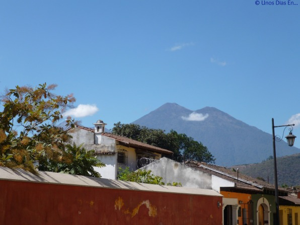 View of Fuego and Acatenando Volcano