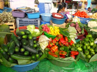 Vegetables and Fruits at the market