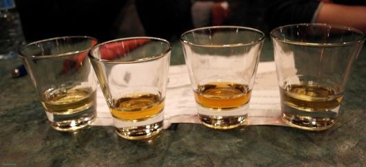 Whiskey tasting at Whiski bar and restaurant