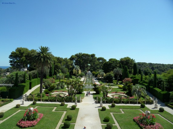 View of the gardens from the house