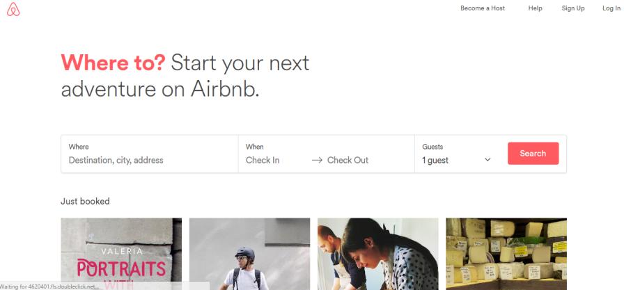 Screenshot: Airbnb