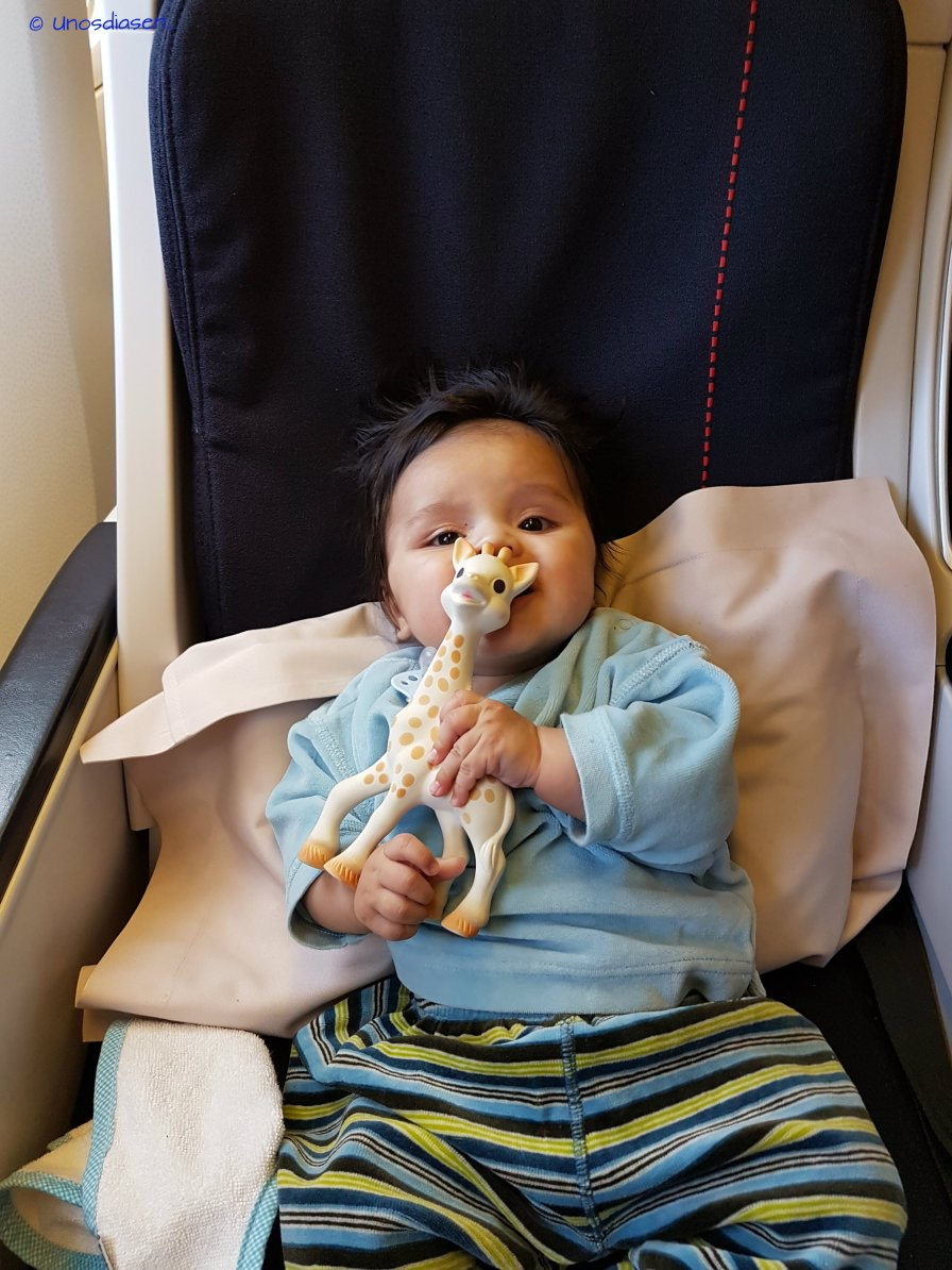 Baby first long flight